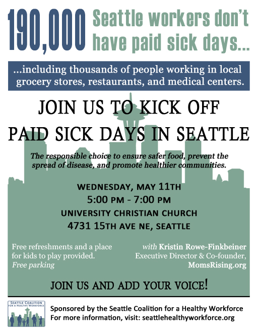paid sick days event flyer